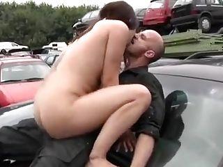 Incredible Natural Tits, Outdoor Romp Scene