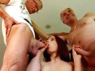 Old Man Gang-bang Internal Cumshot First-ever Time Minnie Manga...